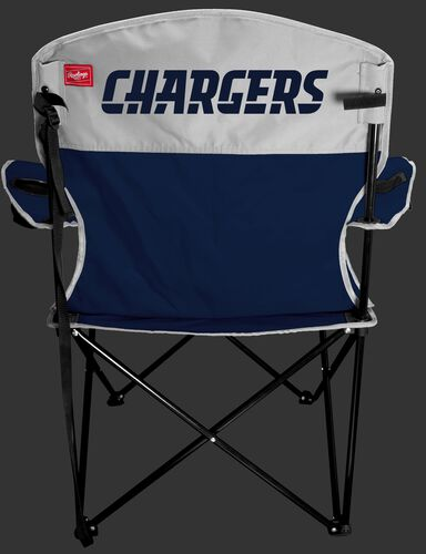 Back of Rawlings Navy and White NFL Los Angeles Chargers Lineman Chair With Team Name SKU #31021083111