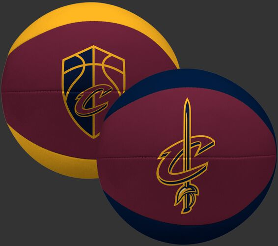 Rawlings Burgundy and Gold NBA Cleveland Cavaliers Softee Basketball With Team Logo SKU #03564199113