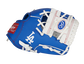 Thumb of a blue/white Los Angeles Dodgers 10-inch team logo glove with a white I-web and LA logo on the thumb - SKU: 22000011111 image number null