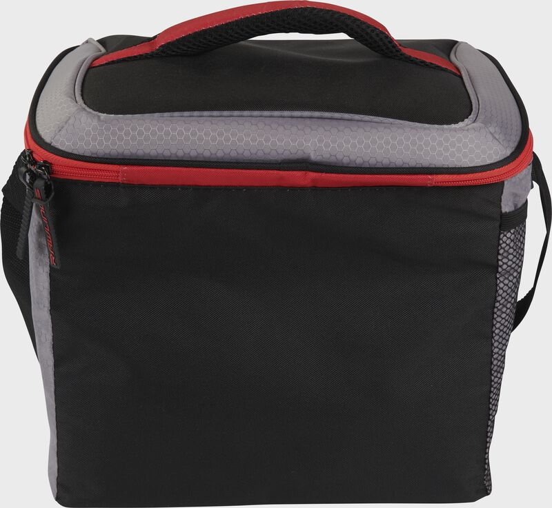 Back of a black Rawlings 24 can cooler with a black handle on top - SKU: 10224043511