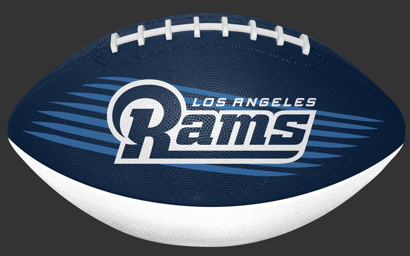 Navy and White NFL Los Angeles Rams Downfield Youth Football With Team Name SKU #07731073121