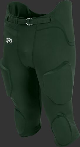 Front of Rawlings Dark Green Youth Lightweight Football Pants - SKU #YFPL