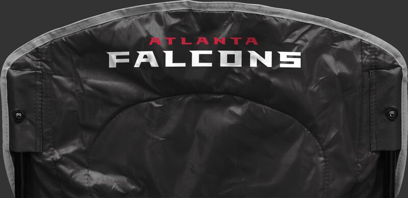 Back of Rawlings Black NFL Atlanta Falcons Cooler Chair With Team Name SKU #02771060111