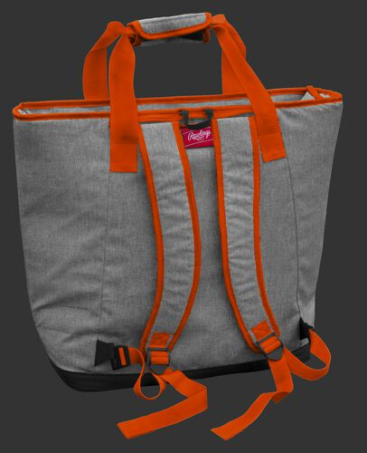 Back of an Oklahoma State Cowboys tote cooler with backpack straps - SKU: 10323044111