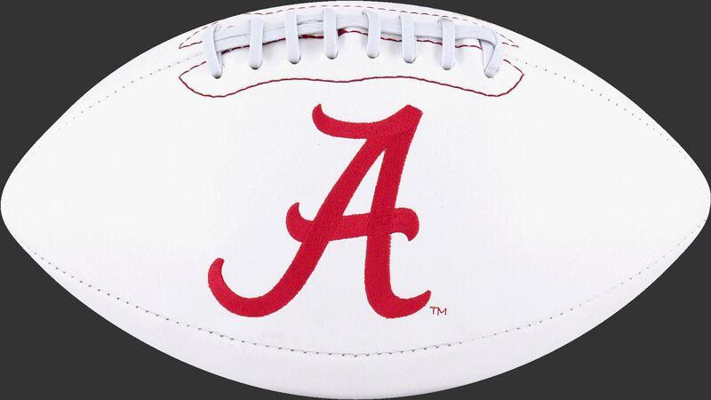 White NCAA Alabama Crimson Tide Signature Series Football With Team Logo SKU #05733066121