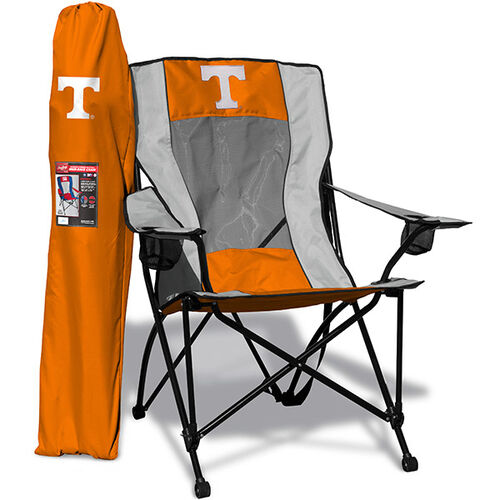 Front of Rawlings Orange and White NCAA Tennessee Volunteers High Back Chair With Team Logo SKU #09403101518