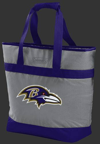 Rawlings Baltimore Ravens 30 Can Tote Cooler In Team Colors With Team Logo On Front SKU #07571092111
