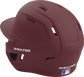 Back left view of a matte maroon MACH series batting helmet with air vents image number null