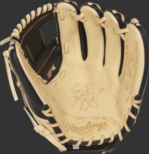 PRO314-2CB Heart of the Hide 11.5-inch infield glove with a camel palm and camel laces