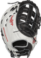 PROFM19SB-17BW 13-inch Heart of the Hide softball first base mitt with a white back and Pull-Strap back design image number null