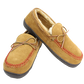 Two RF50004-204 baseball stitch men's moccasins with cow suede and faux fur lining image number null