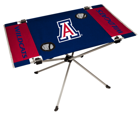 NCAA Arizona Wildcats Endzone table with team colors, logos and two cup holders