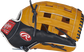 PROS3039-6TN 12.75-inch Rawlings Pro Preferred outfield glove with a navy/rich tan thumb and tan H web image number null