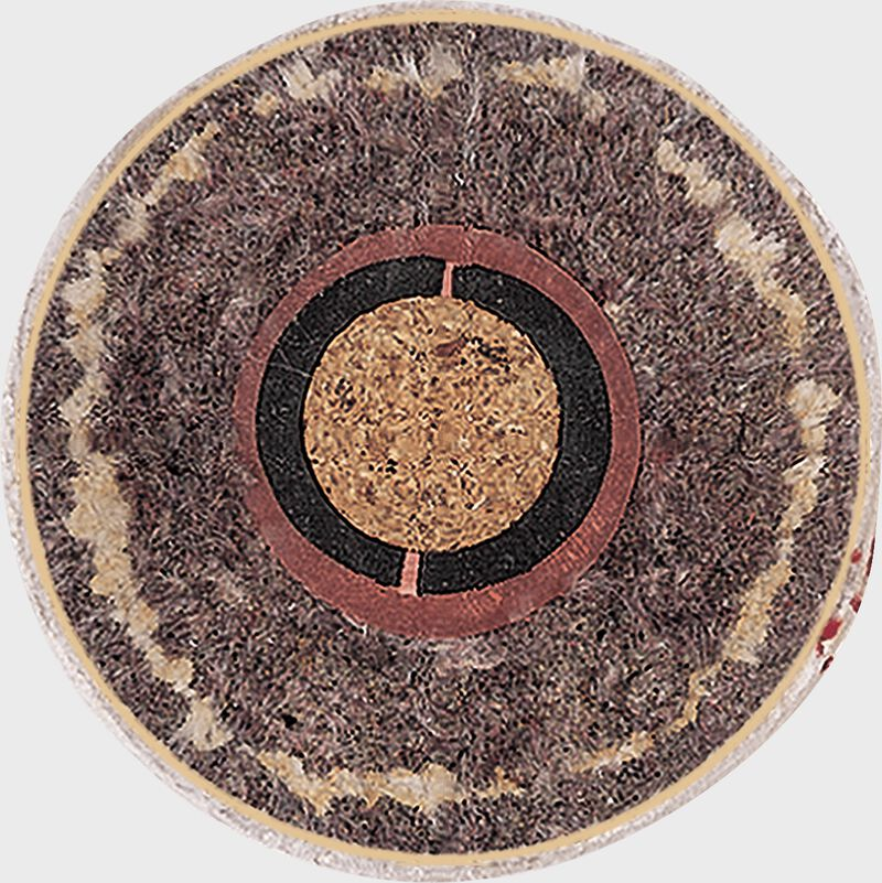 Cutaway showing the center cork of a Rawlings NCAA flat seam baseball - SKU: FSR1NCAA