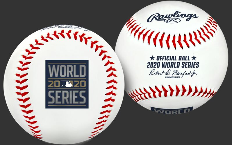 A 2020 World Series Replica baseball with the World Series logo stamp - SKU: 35010032276