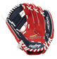 A red/navy Rawlings St. Louis Cardinals youth glove with a Cardinals logo on the palm - SKU: 22000007111 image number null