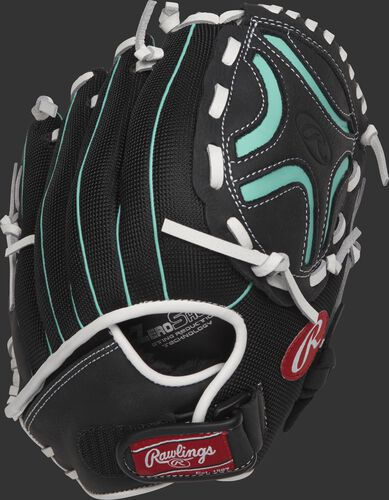 CL110BMT 11-inch youth Champion Lite softball infield glove with a black back and Velcro adjustable wrist strap