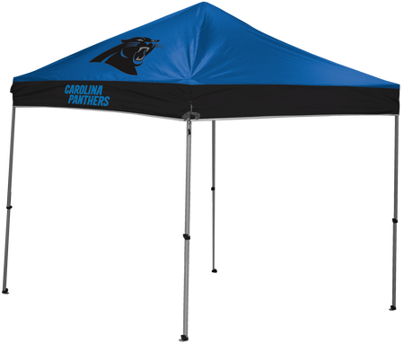 NFL Carolina Panthers 9x9 shelter with team logos and colors