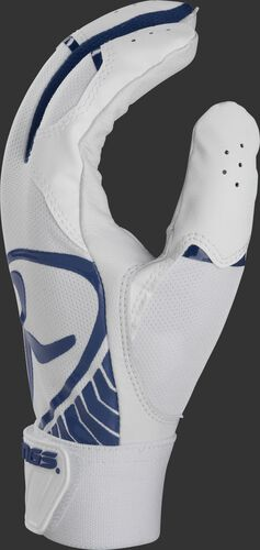 White thumb of a 5150 adult batting glove with navy accents - BR51BG-N