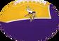 Purple and Gold NFL Minnesota Vikings Football With Team Logo SKU #07831075114 image number null