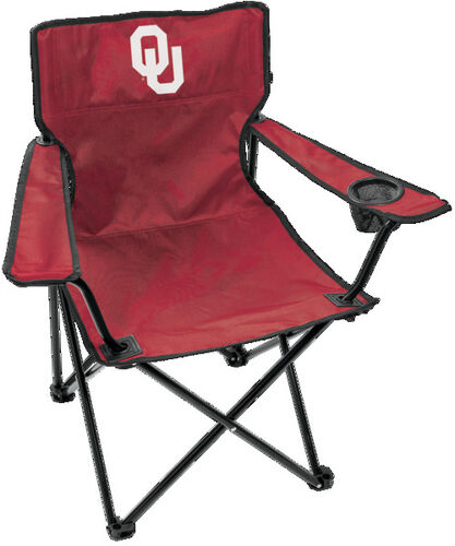 Front of Rawlings Crimson NCAA Oklahoma Sooners Gameday Elite Chair With Team Logo SKU # 00563045111