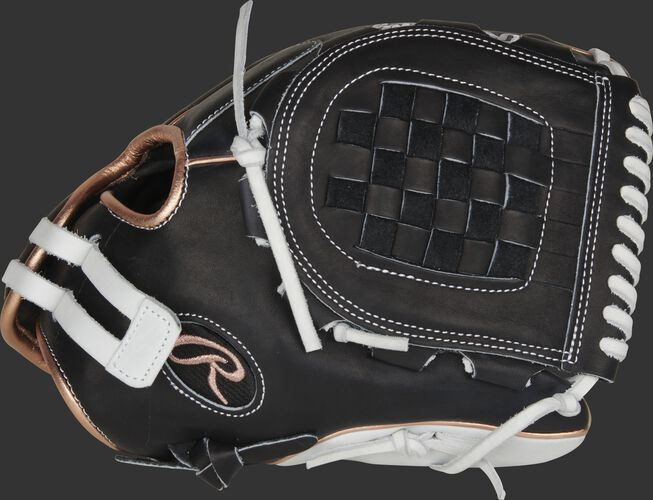 Thumb of a black 2021 12-Inch Heart of the Hide softball glove with a black Basket web - SKU: PRO120SB-3BRG