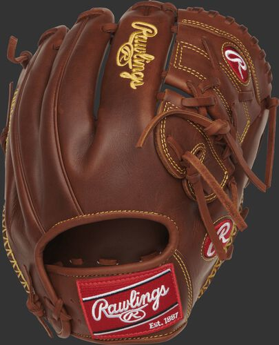 Back view of a timberglaze PRO205-9TIFS 11.75-inch Heart of the Hide finger shift glove