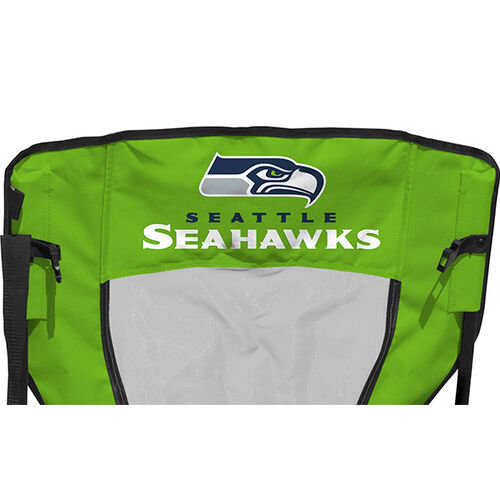 Back of Rawlings Blue and Bright Green NFL Seattle Seahawks High Back Chairs With Team Name SKU #09211085518