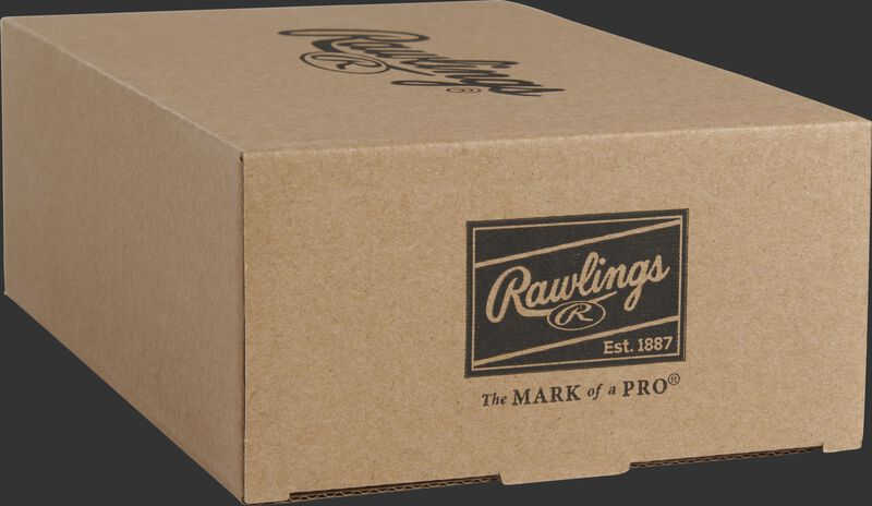 Rawlings patch on the end of a Playmaker baseballs box - SKU: PMBBPK6