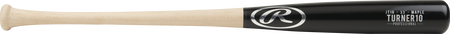 JT10PL Justin Turner pro label maple wood bat with a black barrel and natural wood handle