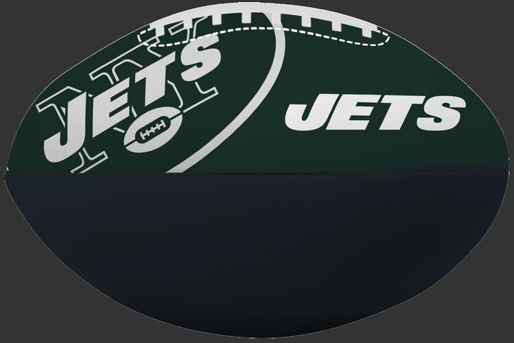NFL New York Jets Big Boy softee football in team colors and featuring team logos SKU #03211079111