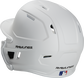 Back left view of a matte white MACHEXTR MACH series batting helmet with air vents image number null