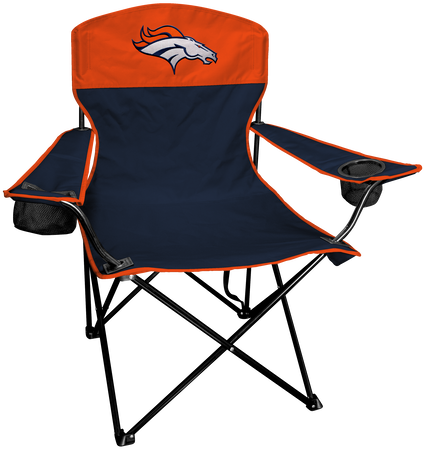 NFL Denver Broncos Lineman chair with team colors and logo on the back