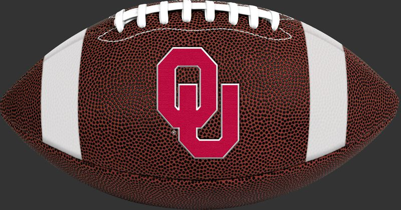 Brown NCAA Oklahoma Sooners Football With Team Logo SKU #04623045811