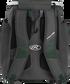 Back of a dark green Rawlings Impulse baseball backpack with gray shoulder straps - SKU: IMPLSE-DG image number null