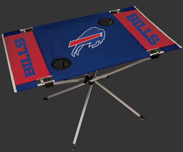 Rawlings Red and Blue NFL Buffalo Bills Endzone Tabele With Two Cup Holders, Team Logo, and Team Name SKU #03391061111