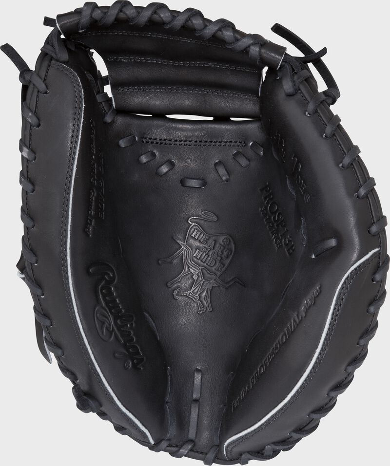 PROSP13B 32.5-inch Heart of the Hide catcher's mitt with a black palm and black laces