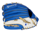 Back of a blue/white Kansas City Royals 10-inch youth glove with the MLB logo on the pinky - SKU: 22000026111 image number null