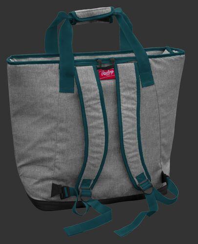 Back of a Philadelphia Eagles tote cooler with backpack straps - SKU: 10311080111