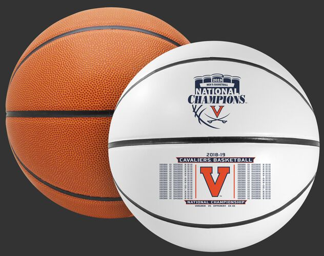 Rawlings White and Brown 2019 NCAA National Champions Virginia Cavaliers Full Size Basketball With Team Logo SKU #04563040737