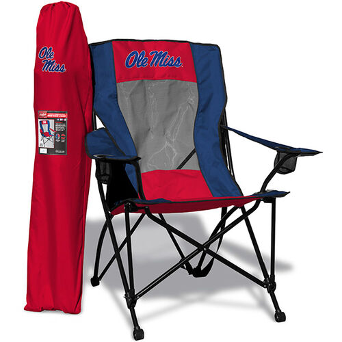 Front of Rawlings Red and Blue NCAA Ole Miss Rebels High Back Chair With Team Logo SKU #09403087518