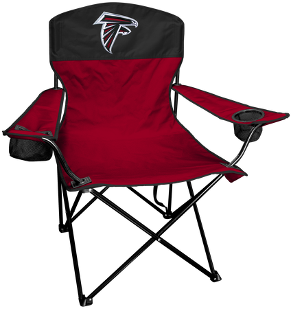 NFL Atlanta Falcons Lineman chair with team colors and logo on the back