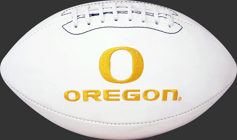 White NCAA Oregon Ducks Football With Team Logo SKU #05733095121
