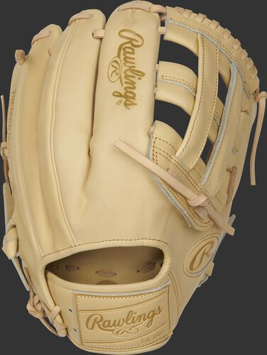 PROKB17-6C 12.25-Inch Heart of the Hide Pro Label glove with a camel back and camel leather patch
