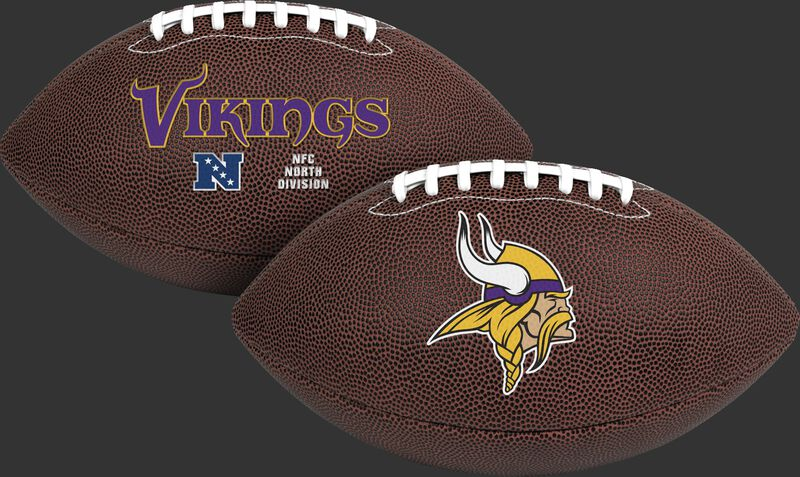 NFL Minnesota Vikings Air-It-Out youth football with team name and logo SKU #08041075121