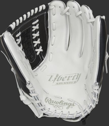 RLA125-18BP Rawlings Liberty Advanced Color Series glove with a white palm and white laces