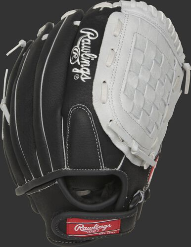 SC115BGB 11.5-inch Sure Catch youth Basket web glove with a black back and Velcro wrist strap