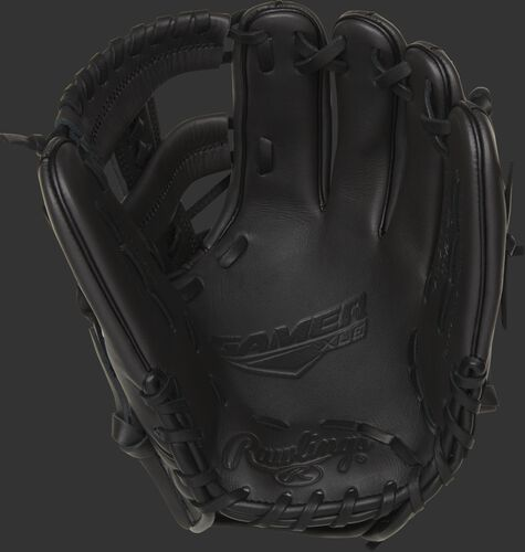 GXLE204W-19DS Rawlings Gamer XLE infield glove with a dark shadow palm, dark shadow web and black laces