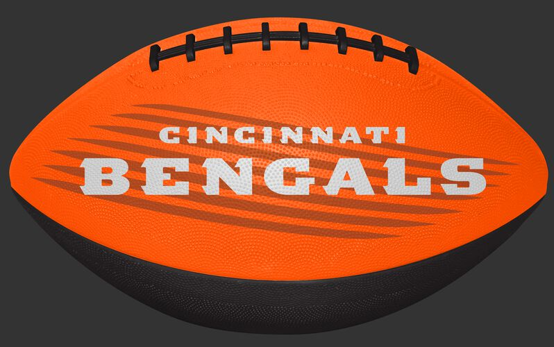 Orange NFL Cincinnati Bengals Downfield Youth Football With Team Name SKU #07731063121