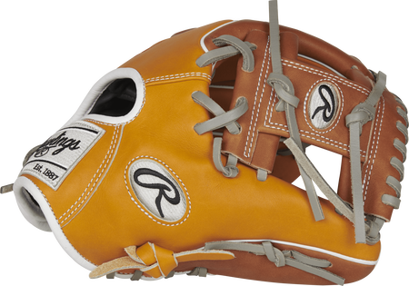 Tan PRO204W-2T 11.5-inch Heart of the Hide R2G Infield glove with a brown I web